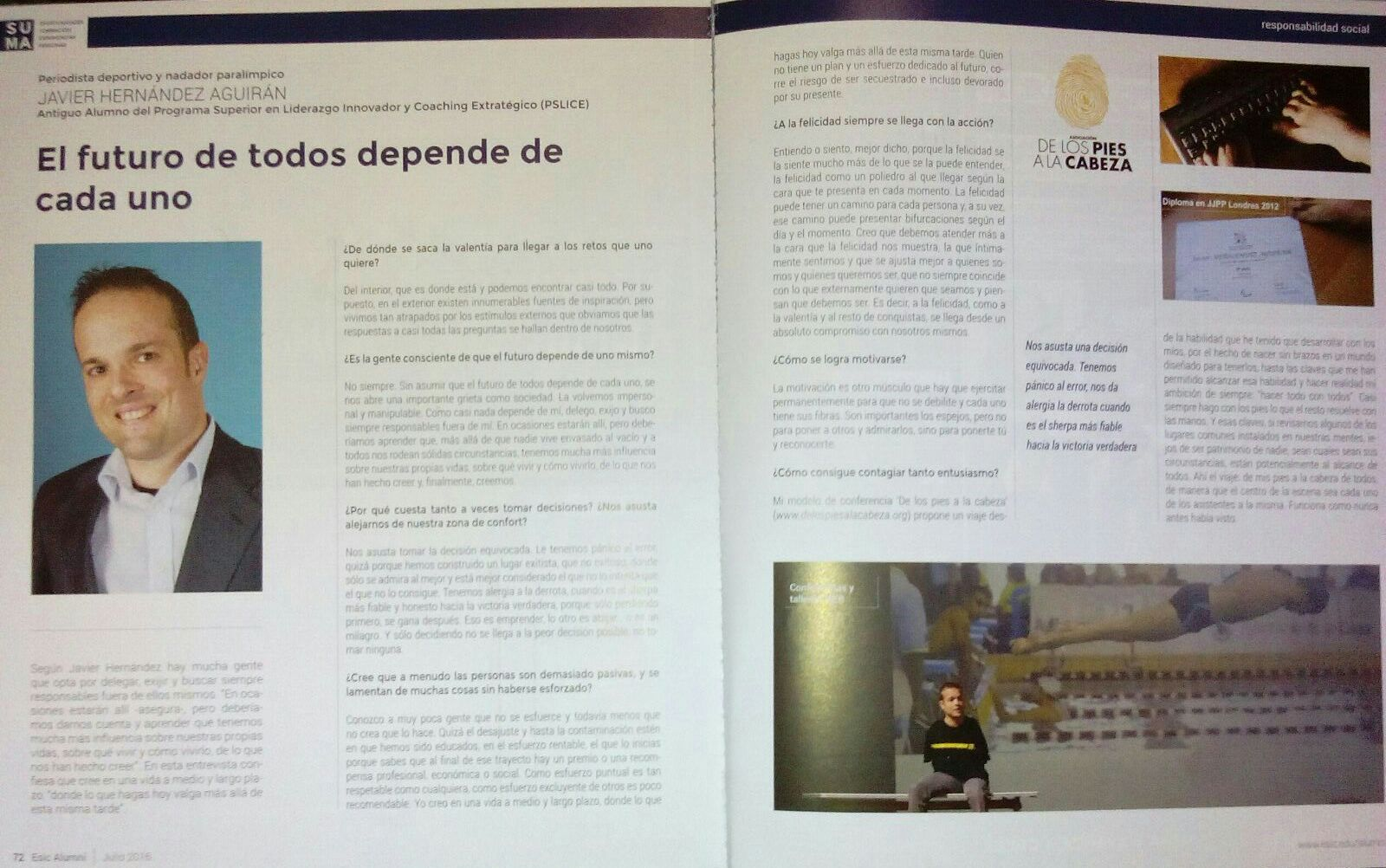 Entrevista en ESIC Alumni