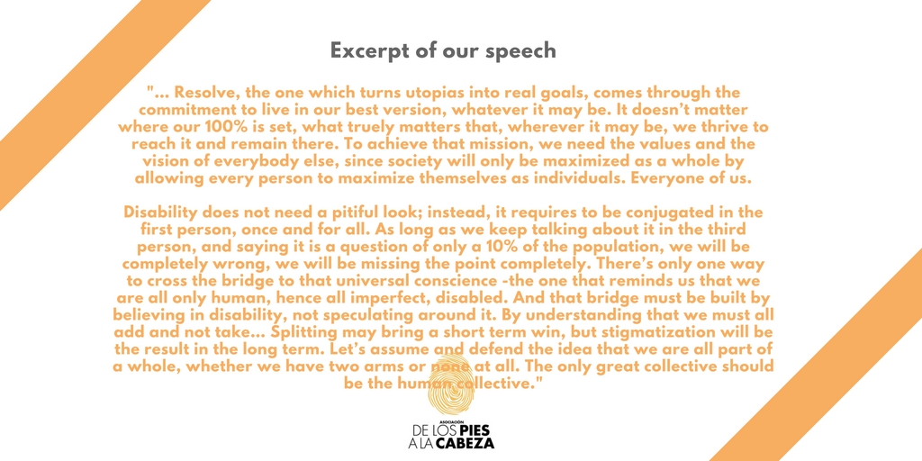 Excerpt of our speech