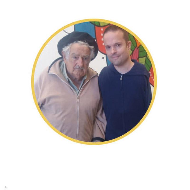 foto con Pepe Mújica